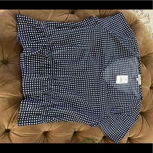 Jcrew factory checkered top size L